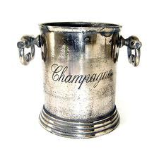 Antique Silver Metal Decorative Wine Cooler
