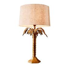 Antique Brass Rosebay Metal Table Lamp