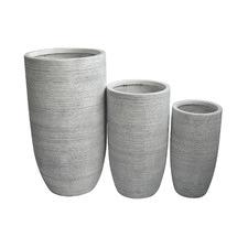 3 Piece Tall Palma Planter Set