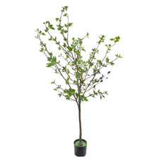Potted Faux Ailanthus Altissima Tree