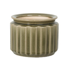 Distressed Green Rosa Ceramic Planter