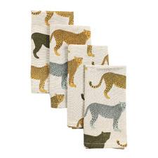 Cheetahs Gone Wild Cotton Napkins (Set of 4)