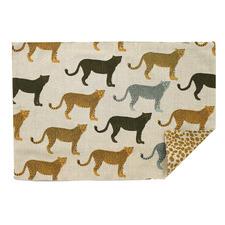 Reversible Cheetahs Gone Wild Cotton Placemats (Set of 4)