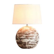 Chalk White Boule Wooden Table Lamp