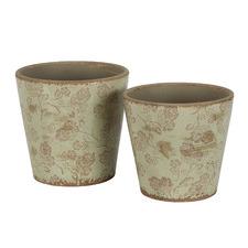 2 Piece Sage Somerset Ceramic Pot Set