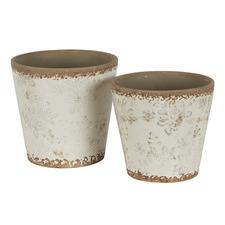 2 Piece Cream Somerset Ceramic Pot Set