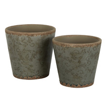 2 Piece Thyme Somerset Ceramic Pot Set