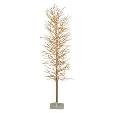 Silver 120cm Light Up Faux Branch Christmas Tree