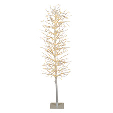 White 120cm Light Up Faux Branch Christmas Tree