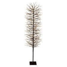 Black 180cm Light Up Faux Branch Christmas Tree