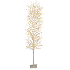 White 180cm Light Up Faux Branch Christmas Tree