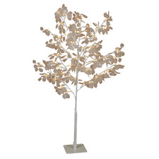 White 120cm Lunaria Light Up Honesty Christmas Tree