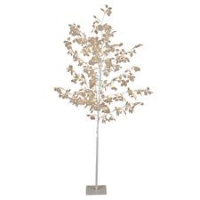 White 180cm Lunaria Light Up Honesty Christmas Tree
