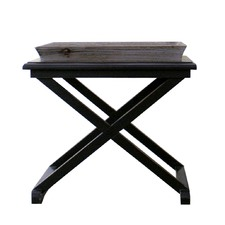Antique Black Pebble Beach Side Table