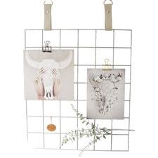 Grey Grid Mood Board with Suede Mushroom Straps