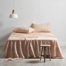 Cuffed & Piped Linen Sheet Set