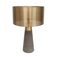 Jamie Durie Bolo Tap Cylinder Lamp with Brass Sh