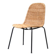 Natural Candi Chair with Black Frame