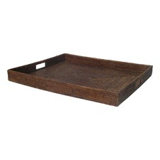 Perfectly Square Serving Tray with Insert Handles (Set of 2)