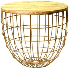 Brass Pluto Side Table