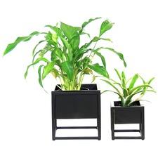 2 Piece Metal Table Planter Set