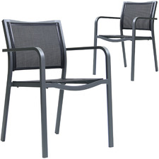 Milo Mesh Outdoor Dining Chairs (Set of 2)