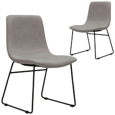 Light Grey Paige Dining Chairs (Set of 2)