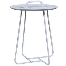White Farrow Lift Aluminium Outdoor Side Table