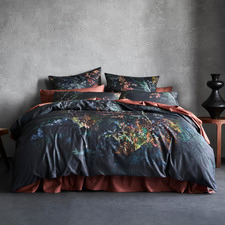 Carbon Gardinar Cotton Sateen Quilt Cover