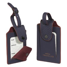 Cadet Blue Luggage Tags (Set of 2)