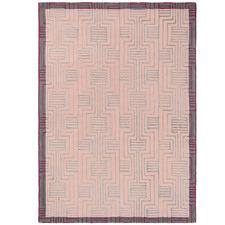 Pink Kinmo Wool & Viscose Rug
