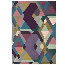 Purple Mosaic Hand-Tufted Wool Rug