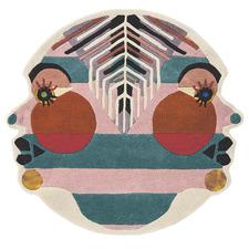 Gemini Zodiac Hand-Tufted Wool-Blend Round Rug