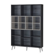 Sonoma Grey Oak Display Bookshelf
