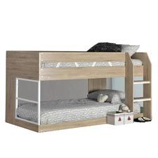 Sonoma Oak Low Line Single Bunk Bed