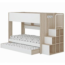 Cruz Trio Single Bunk Bed & Shelves