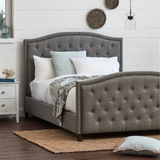 Light Grey Luxury Aurora Queen Bed Frame