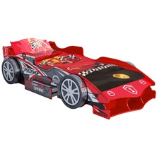 Red Speed Racing Single Bed