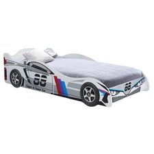 Lightning King Single Racing Car Bed with Drawer
