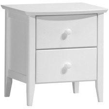 White Leo Bedside Table