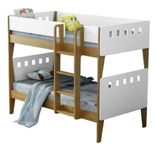 White & Natural Cambridge Single Bunk Bed