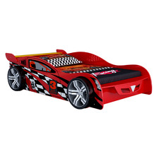 Red Jayden King Single Car Inspired Bed