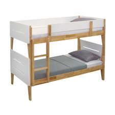 White & Natural Galaxy Wooden Bunk Bed