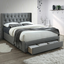 Light Grey Madison Queen Storage Bed