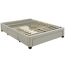 Oat White Astro Storage Bed Frame