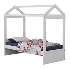 White Darcy Single House Bed