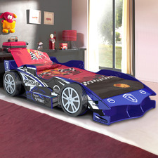 Blue Speed Racing Single Bed