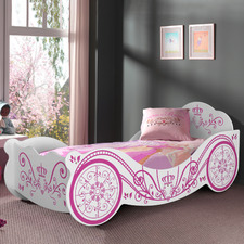 White Saint Ives Single Princess Bed