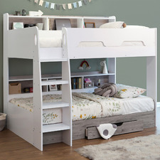 Castel Single Bunk Bed with Shelves