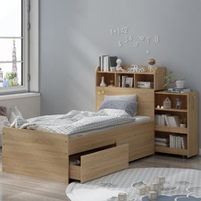 Light Oak Galway Bed with Storage